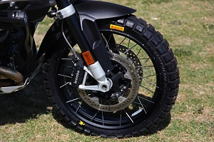 BMW R1200GS 2014 Water Cooled front tyre Pirelli Scorpion Rally
