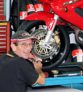 Chris our motorcycle mechanic is highly trained, helpful & boasts years of experience in motorcycle repairs & diagnostics