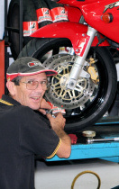 Ben Cronin, Motorcycle mechanic with a vast experience of over 30 year