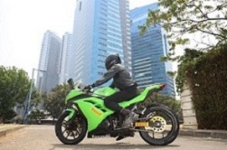 Kawasaki Ninja 300 fitted with Pirelli Angel City Tyres