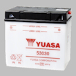 Yuasa 53030 Battery cost price $189.00 suits BMW K1, K100, K100GS, K100RS, K100LT, K100RT, K75, K75-S, K75RT, R100, R100GS, R100RT, R90, R80, R75, R65 - Moto Guzzi motorcycle battery to suit Guzzi 1000 & 1100 California, Daytona, 1100 Sport, V1100 Sport,  Lavarda 1000 & 12000, BMW battery 61211459650