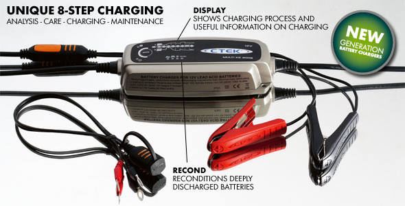 CTEK Multi MXS 5.0 Smart Charger is far more than a motorcycle battery trickle charger